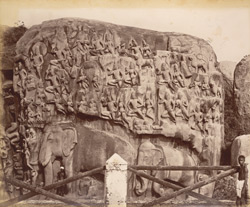 Animals crowding in to admire Arjuna performing Penance [Mamallapuram]